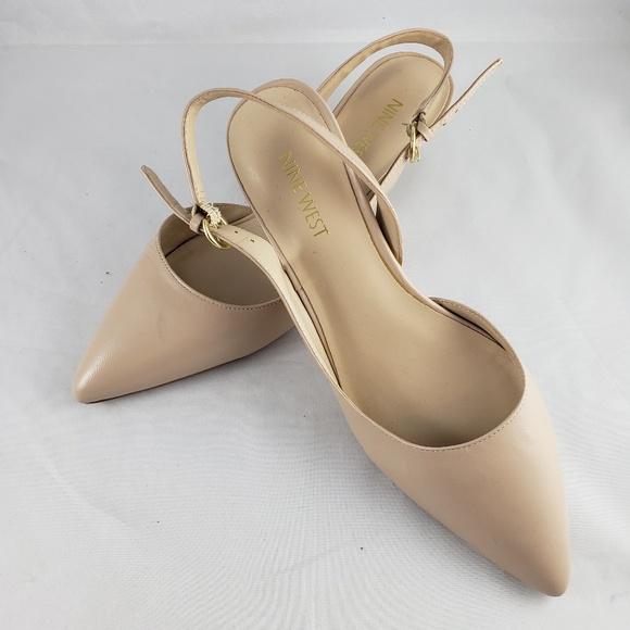 055b9fefac Nine West Shoes | Ilaria Pointed Toe Slingback Kitten Heel | Poshmark